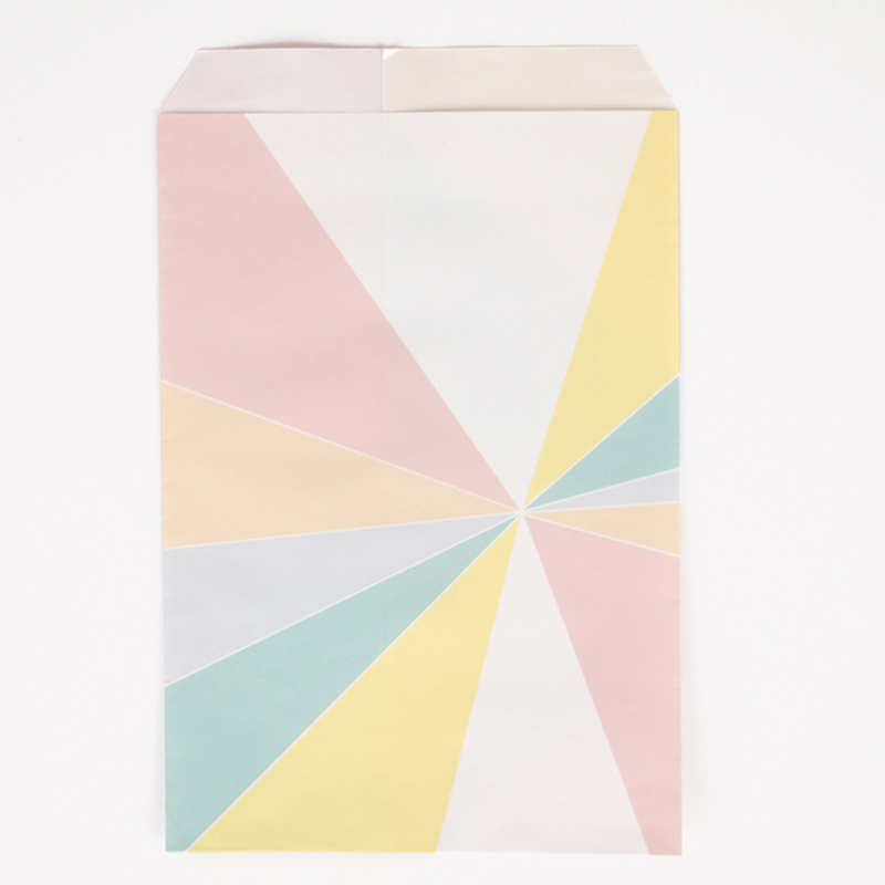 10 mixed color striped party bags