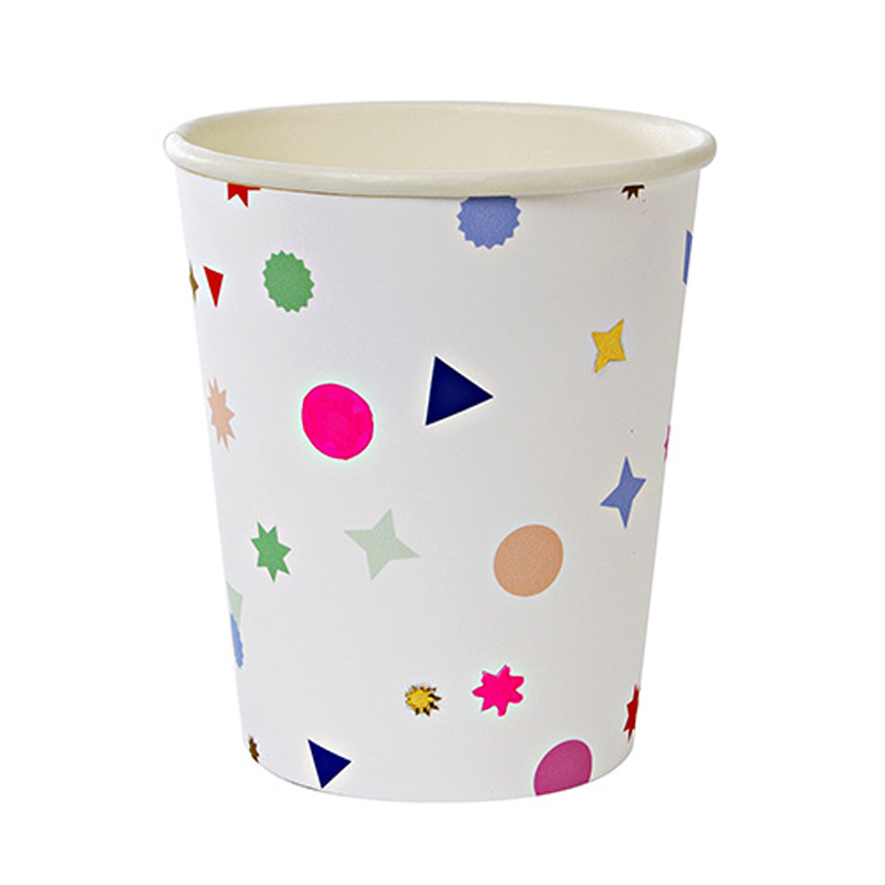 8 neon Charms party cups