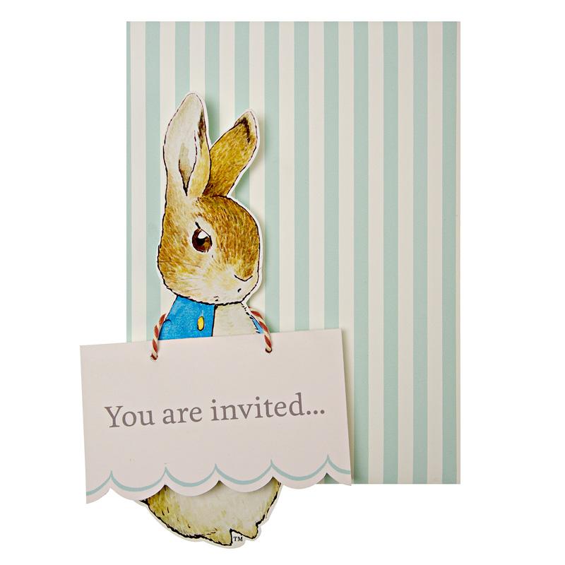 Peter Rabbit party invitations - Little Lulubel