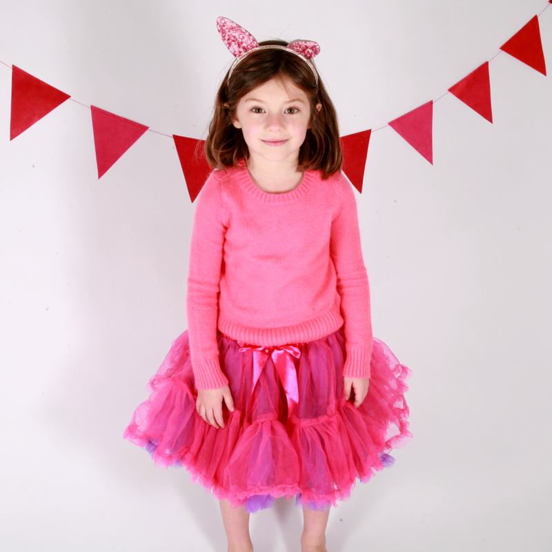 Cerise and Violet Frilly Tutu Skirt