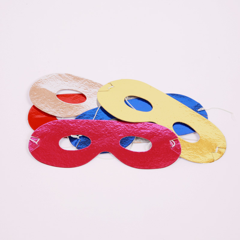 Set of 8 colourful paper facemasks