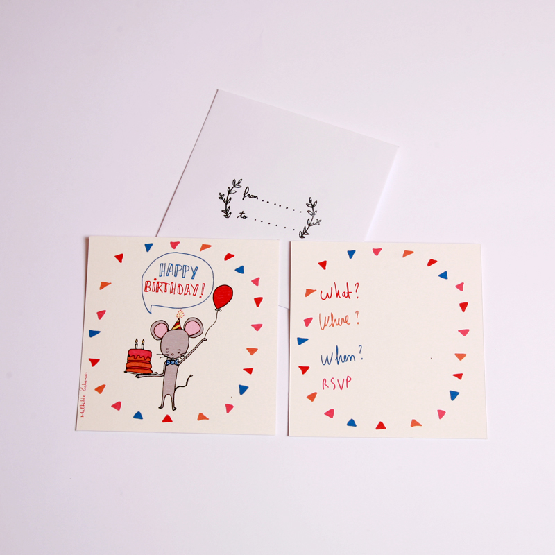 Mouse birthday party invitations