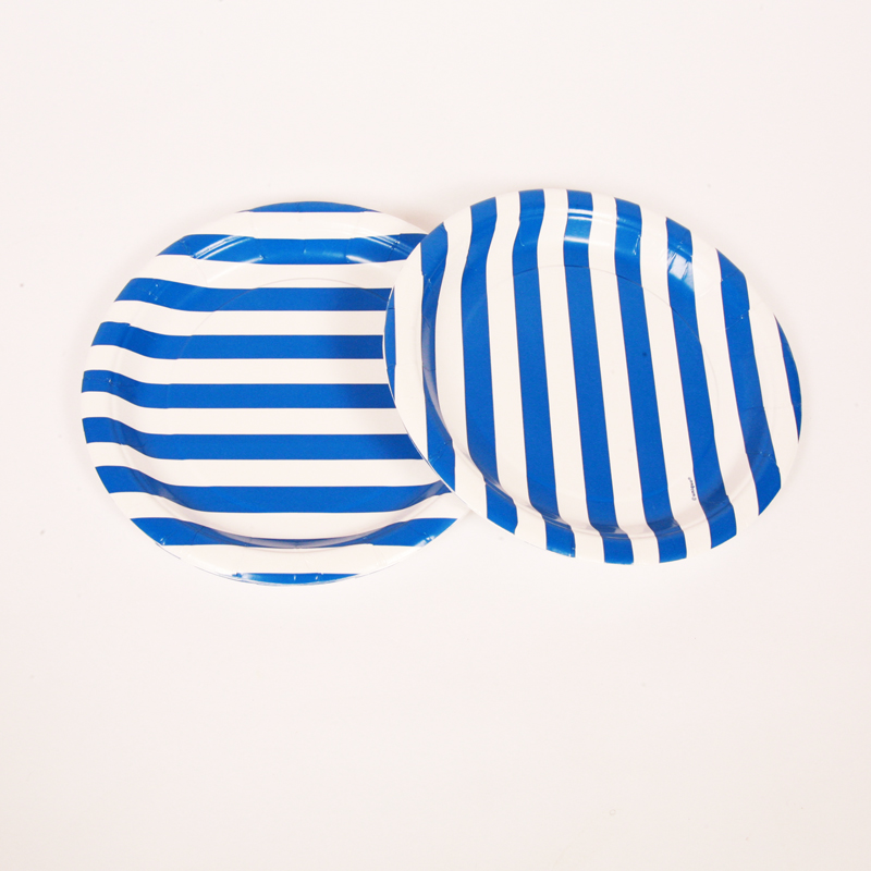 blue stripe party plates  sc 1 st  Little Lulubel & blue stripe party plates - Little Lulubel