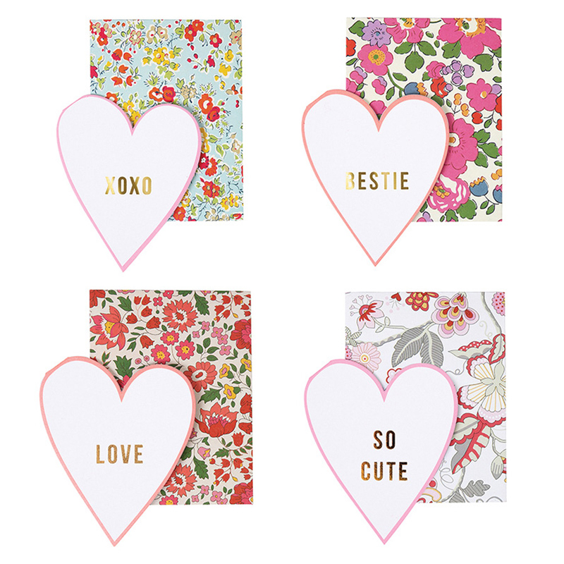Set of 20 Liberty Print Love Notes