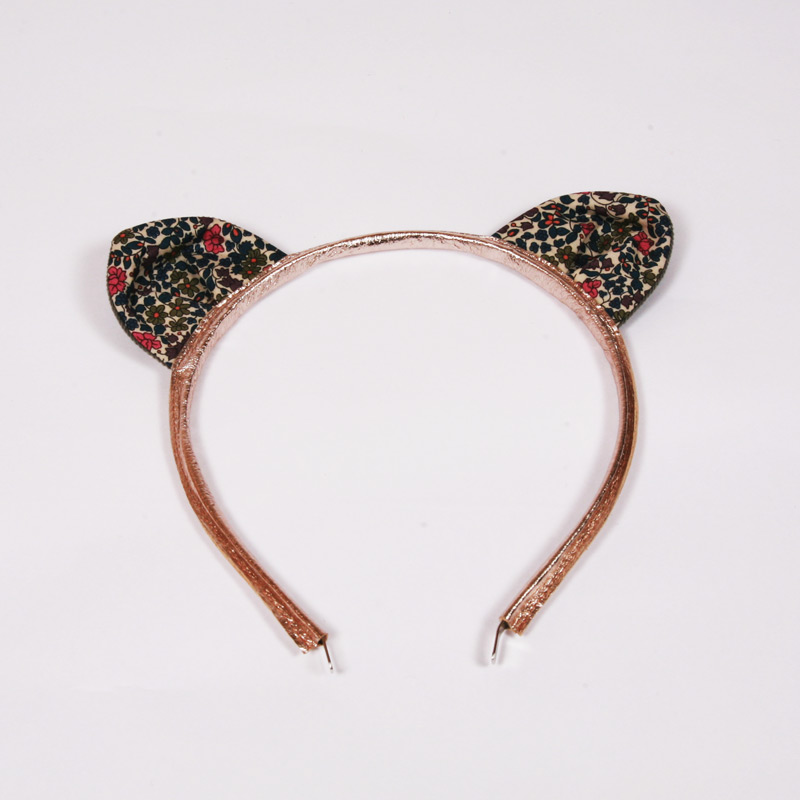 Liberty Emilia's flower print cat ears headband