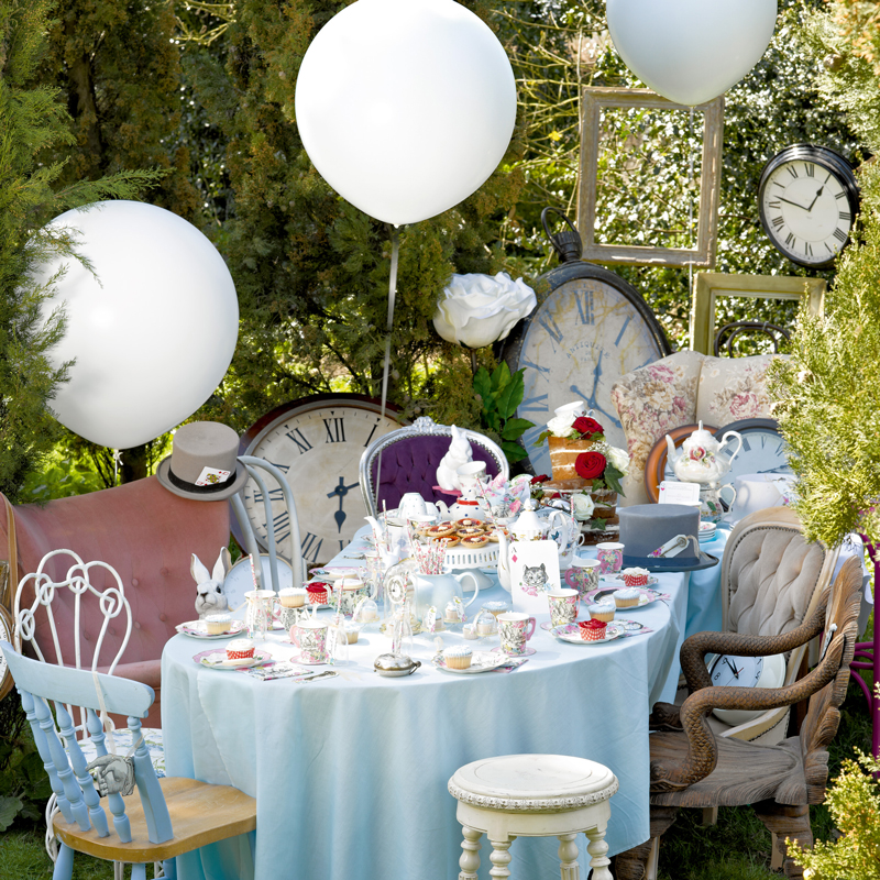 Alice in Wonderland inspired tea party