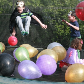 Superheroes, a trampoline and few balloons…hours of fun!