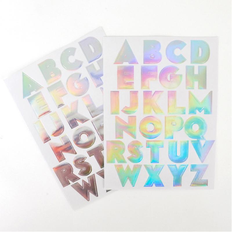 Alphabet Foil Silvers: Silver Foil Alphabet Stickers