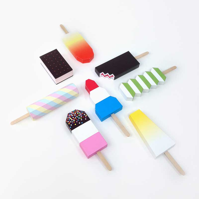 3D paper ice lollies