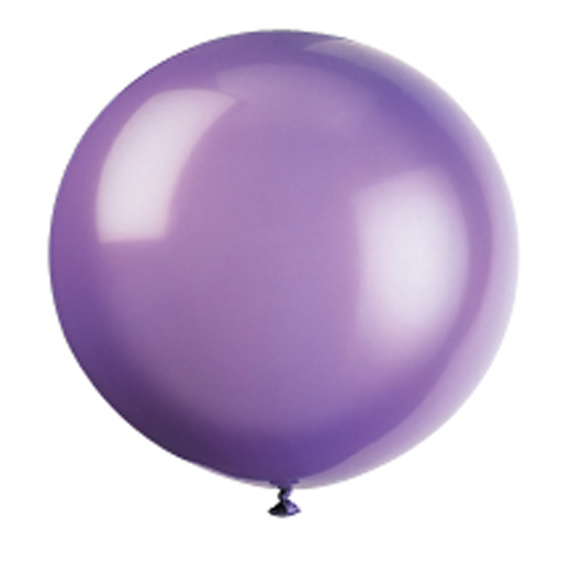 purple giant balloon