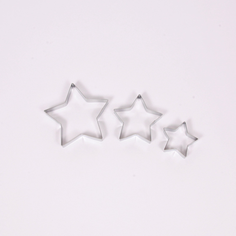Set of 3 star shape cookie cutter