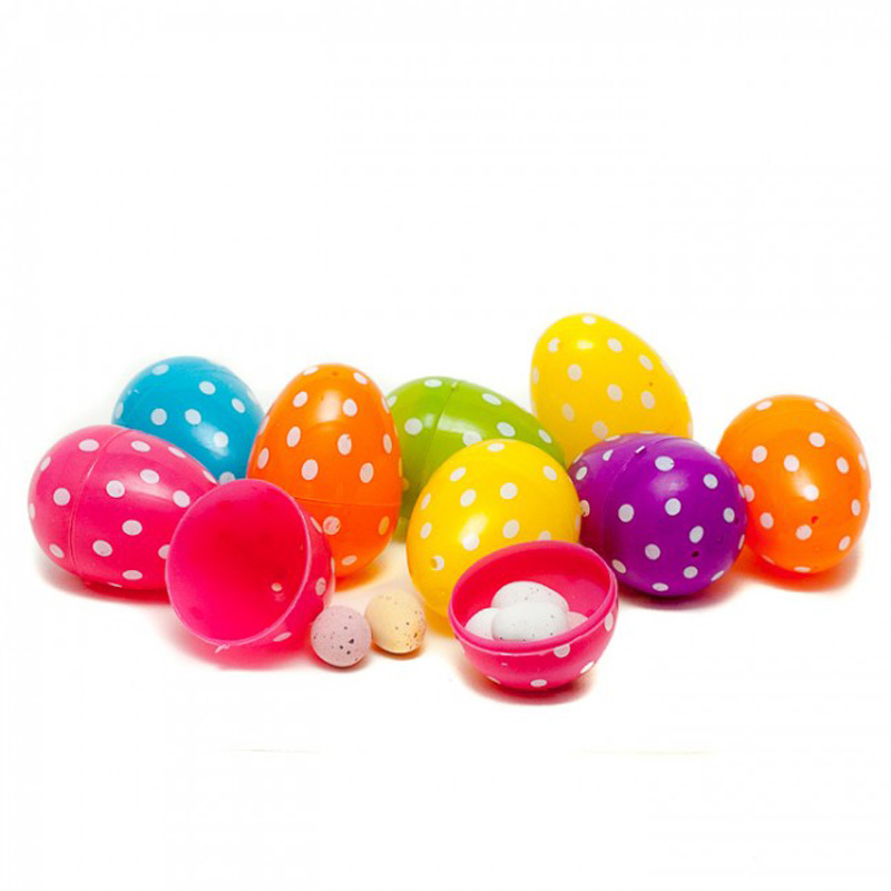 Pack of 12 Fillable Polka Dot Eggs
