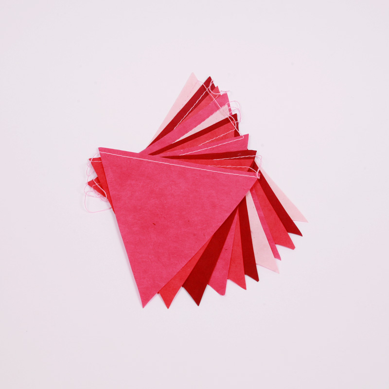 Handmade pink paper bunting
