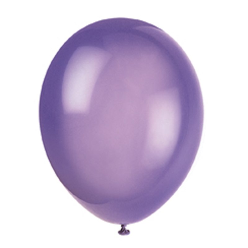 pack of 10 purple balloons