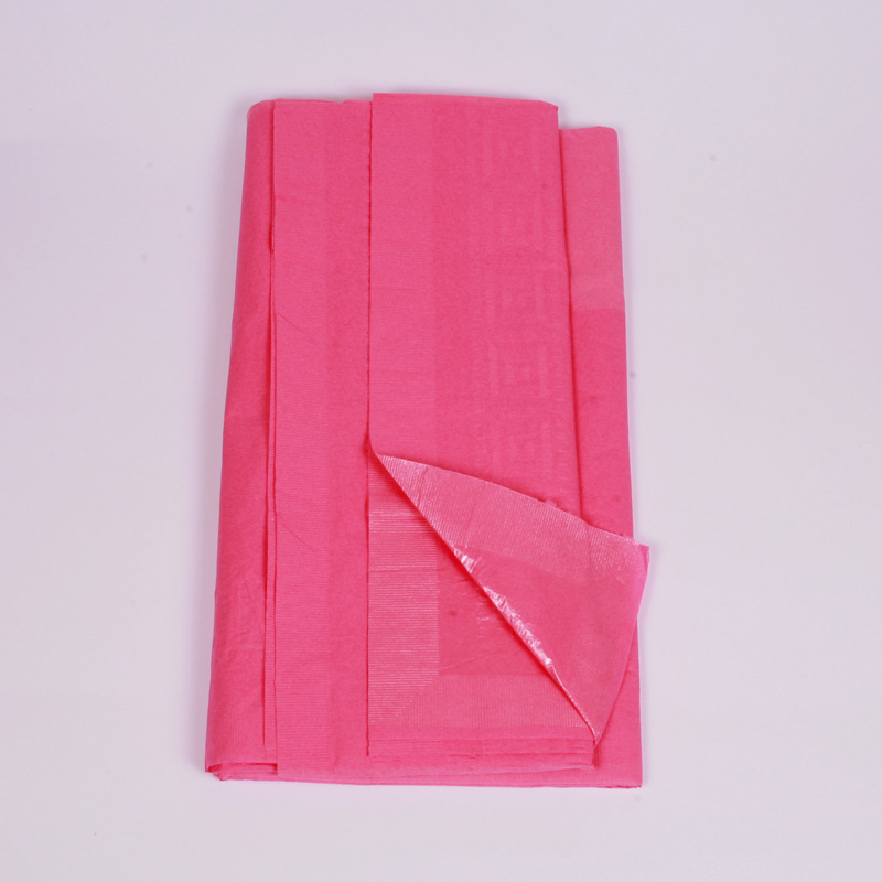 Hot pink paper table cover