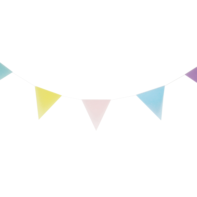 Pastel colour paper bunting