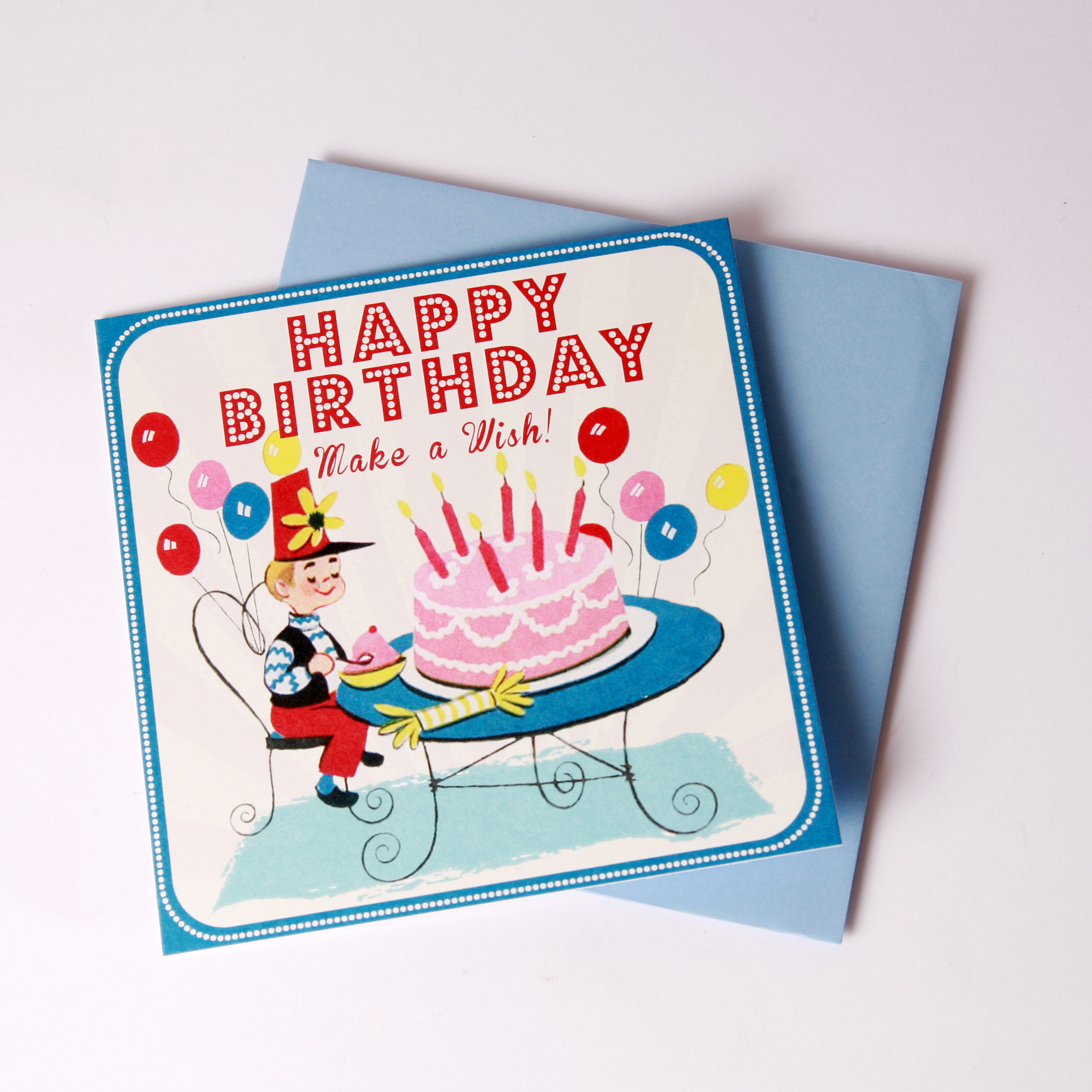 Boys 'make a wish' card