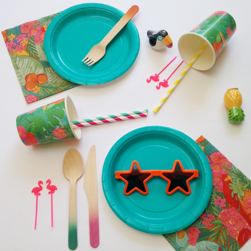 tropical fiesta party kit