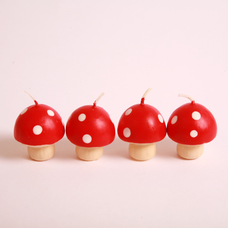 Mini toadstool candles