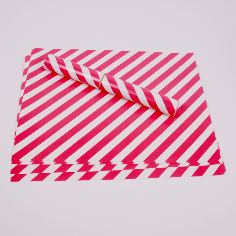 10 hot pink stripe placemats