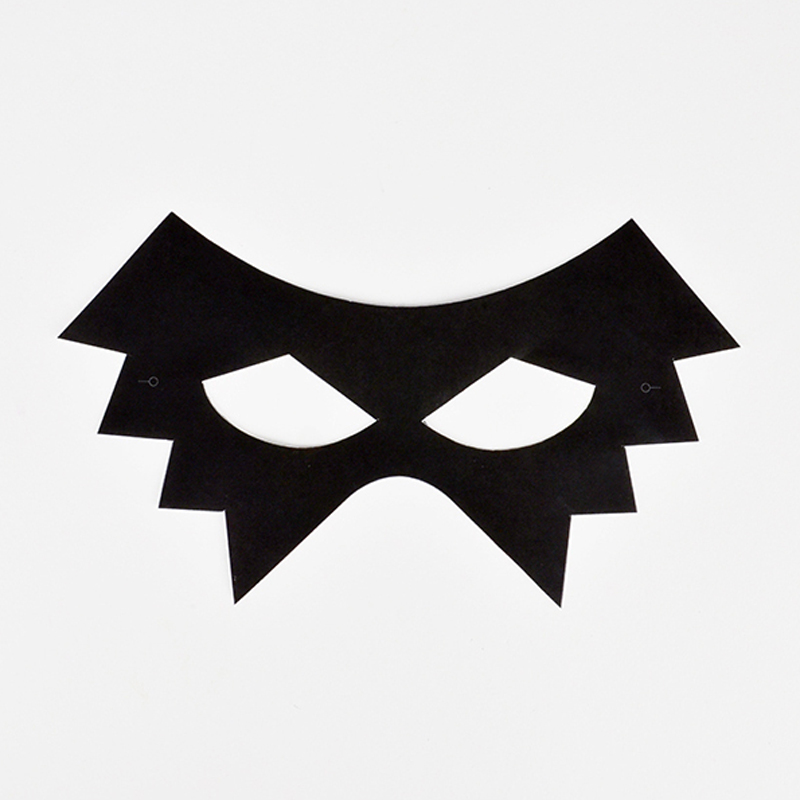 8 black scary masks