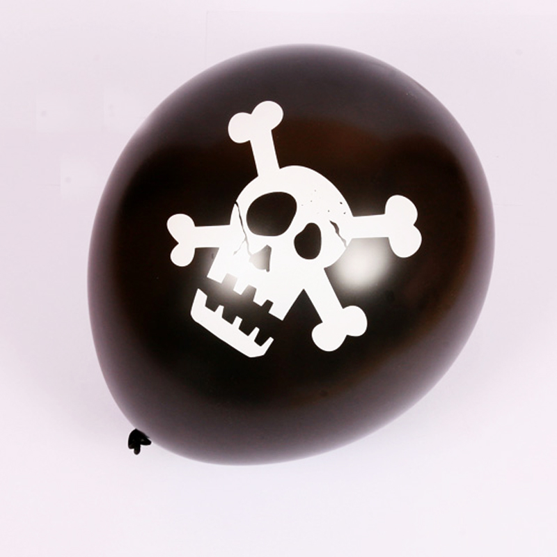 pack of 9 skull balloons