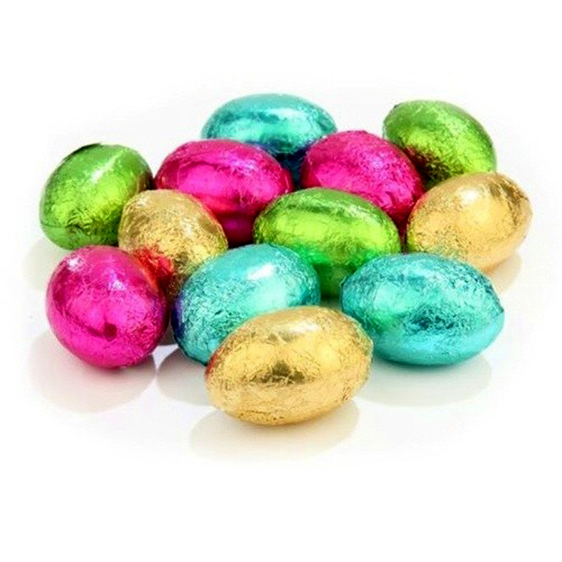 Set of 5 mini chocolate eggs