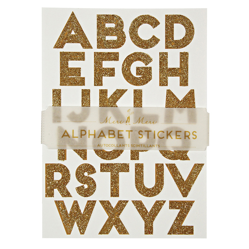 Gold alphabet Sticker Sheet