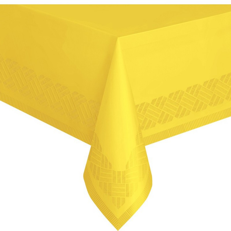 Yellow table cover