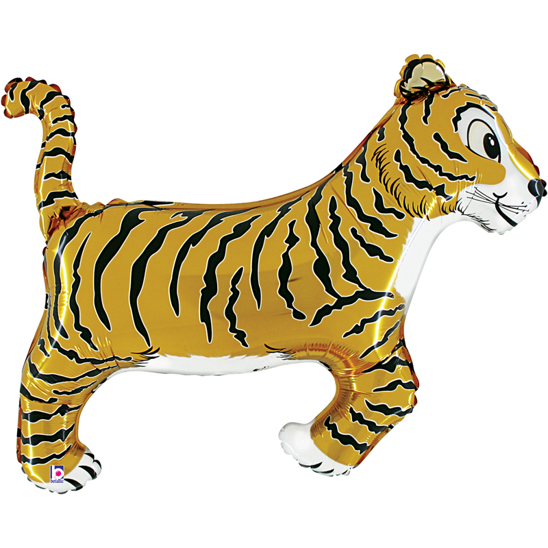Tiger shaped foil balloon