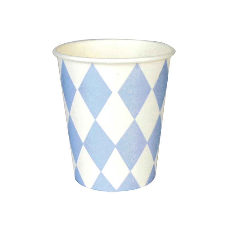 8 Blue diamond cups