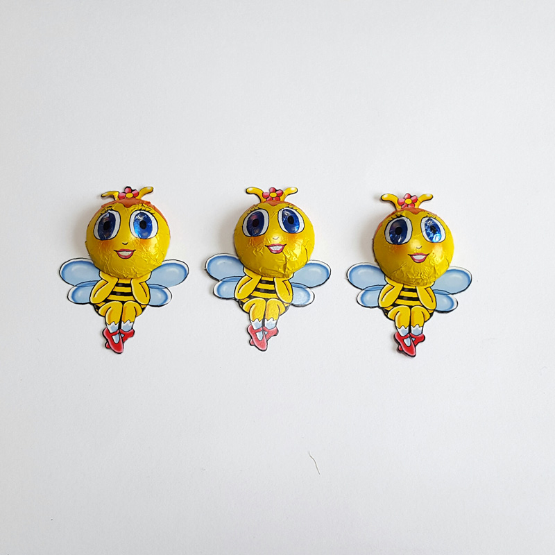 Set of 3 chocolate lady bees