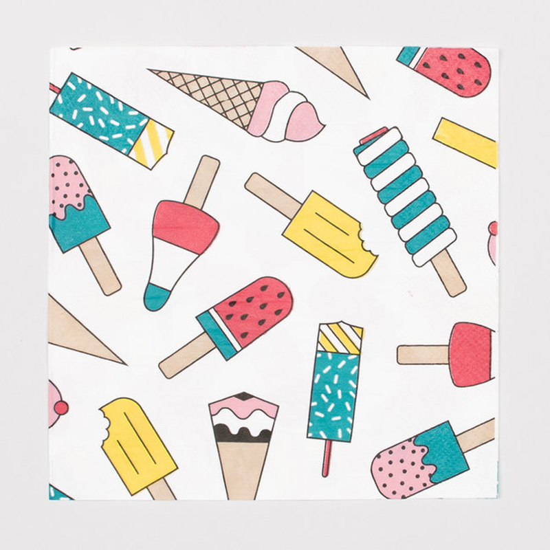 20 napkins - ice cream