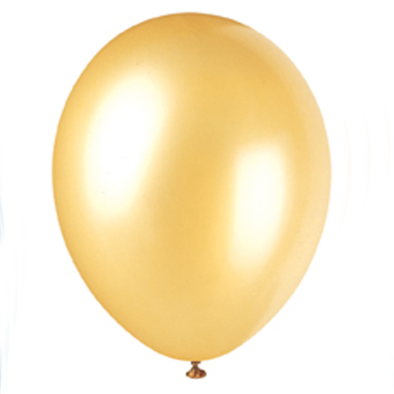 pack of 10 gold balloons