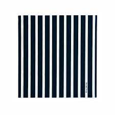 16 black and white striped napkins