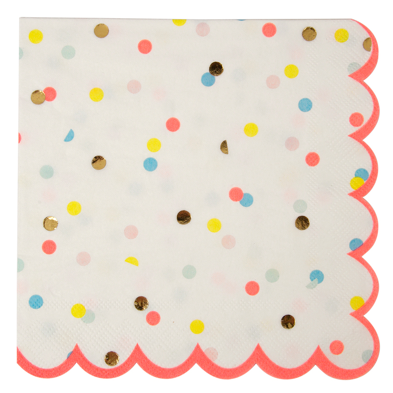 Neon Spotty Large Napkin