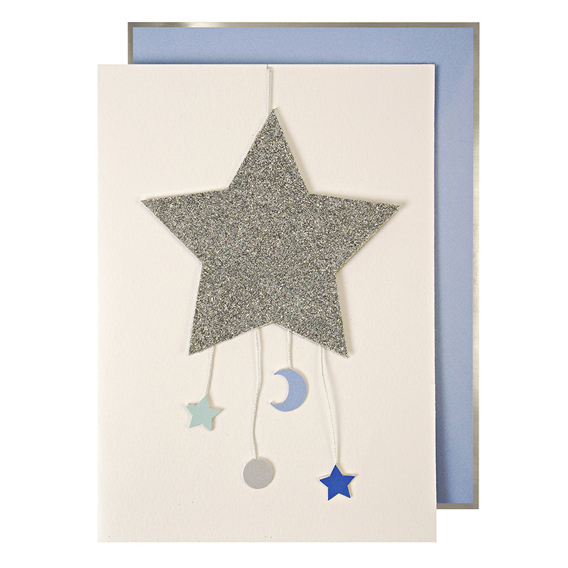Baby Boy Mobile Greetings Card