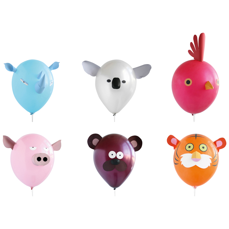 Pack of 6 Animal Airhead Balloons