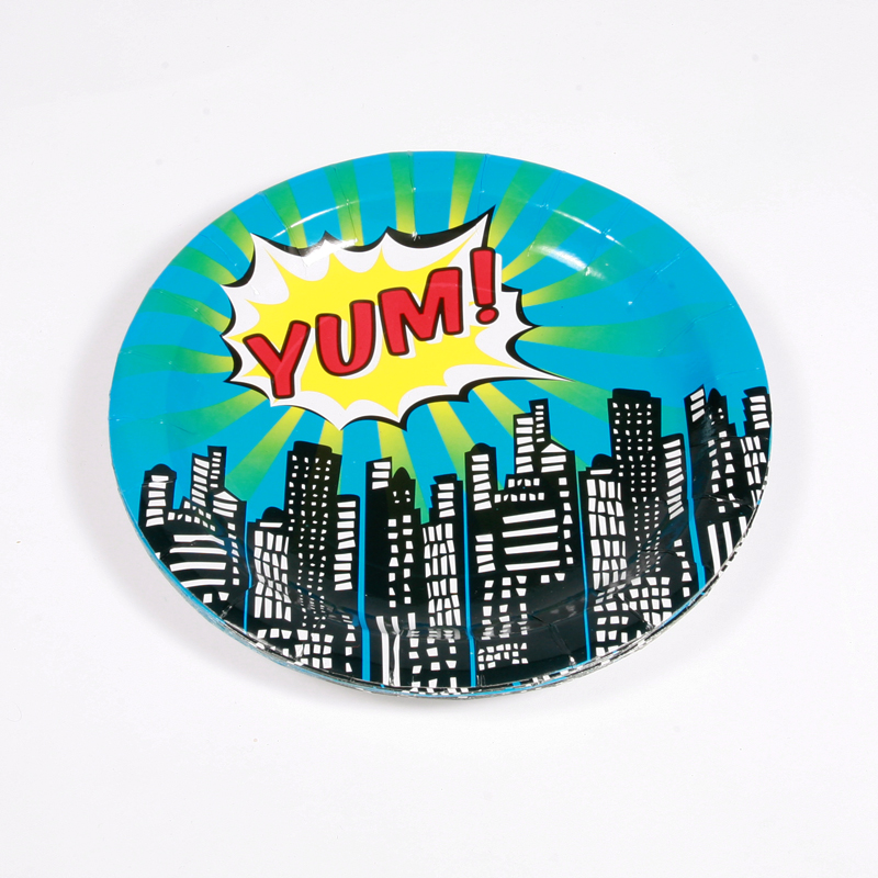 8 superhero party plates