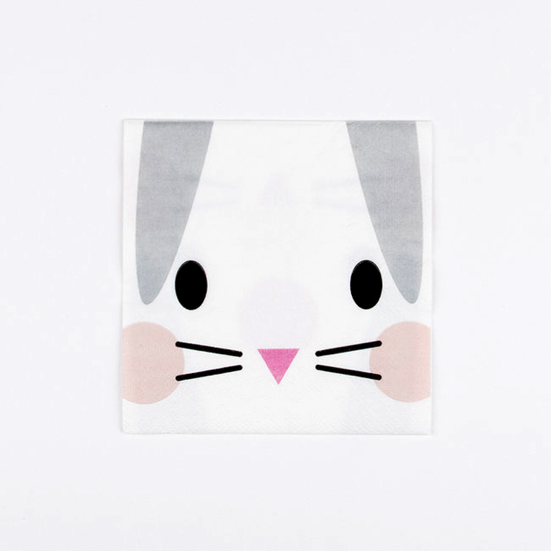 napkins- mini rabbit