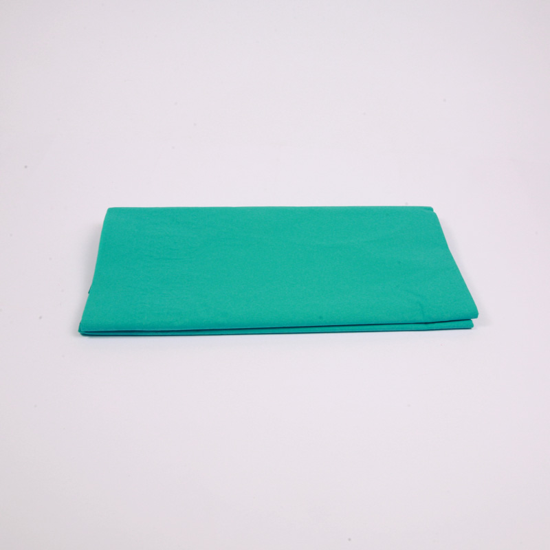 Turquoise paper table cover