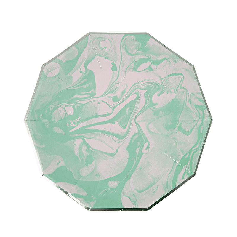 8 Marble Mint Pattern Small Plate