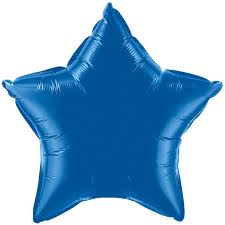 Royal blue star foil balloon