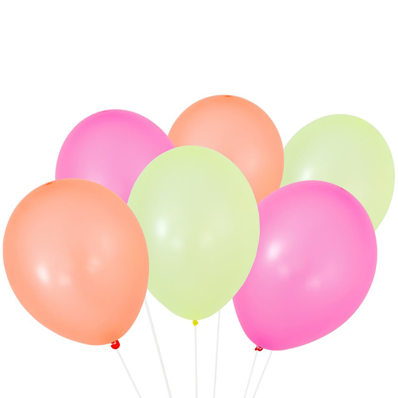 pack of 12 neon balloons