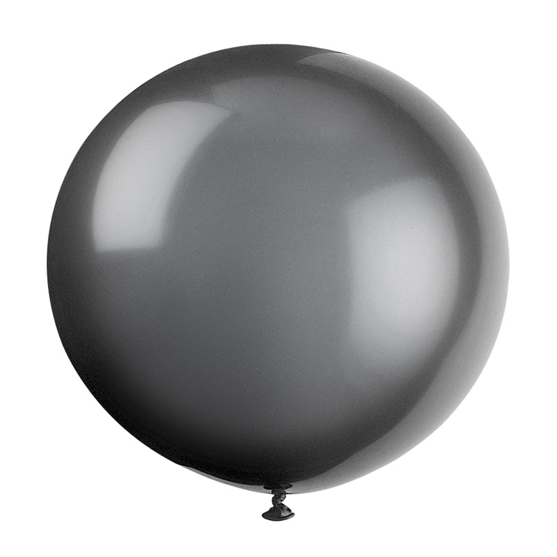 black giant balloon
