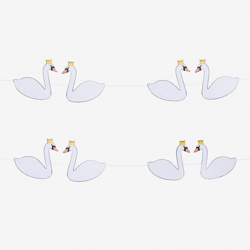 Swans Paper garland