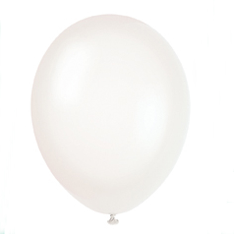 pack of 10 linen white balloons