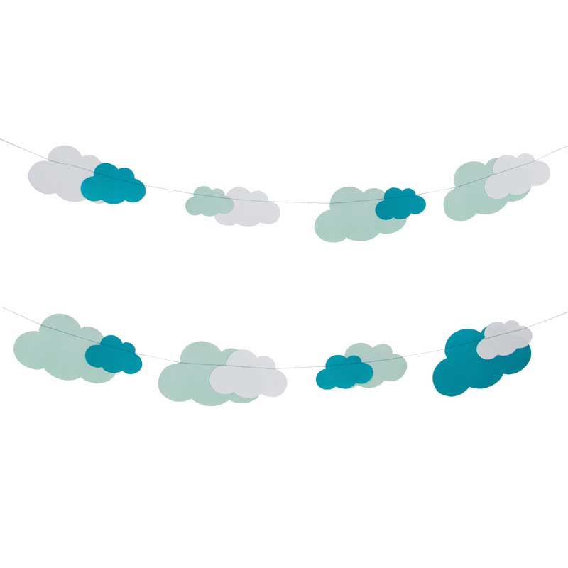 Cloud paper garland