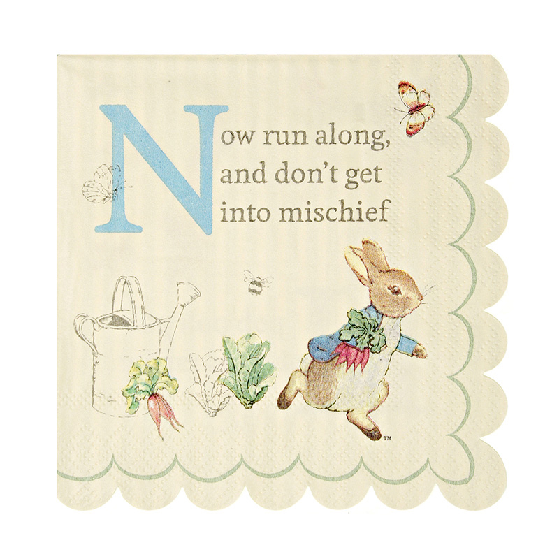 20 Peter Rabbit napkins