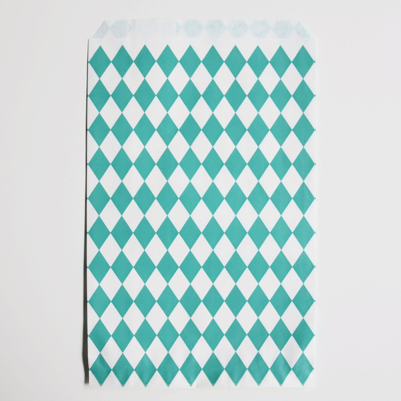 10 turquoise diamonds paper party bags